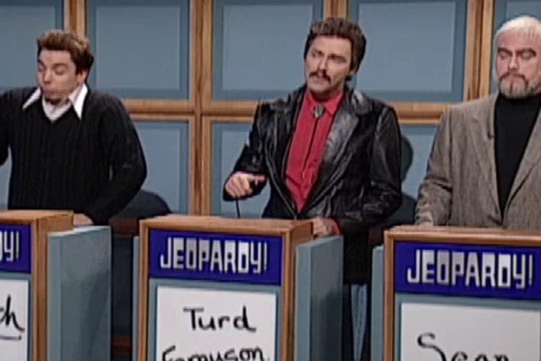 Who played burt reynolds in celebrity jeopardy saturday