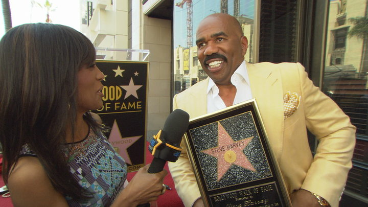Access Hollywood - Steve Harvey Gets His Star On the Hollywood Walk of Fame